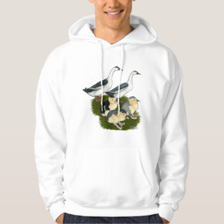 Blue Magpie Duck Family Hoodie