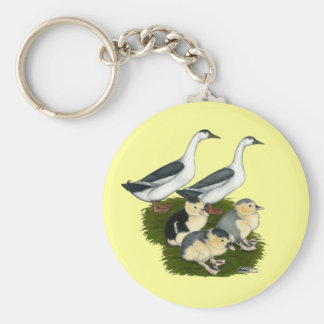 Blue Magpie Duck Family Key Chain