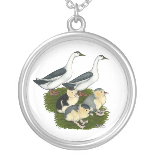 Blue Magpie Duck Family Necklaces