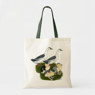 Blue Magpie Duck Family Tote Bag