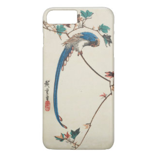 Blue Magpie on Maple Branch Japanese Woodblock iPhone 7 Plus Case