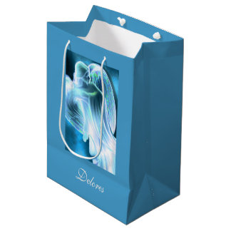 Blue Majestic Angel Medium Gift Bag