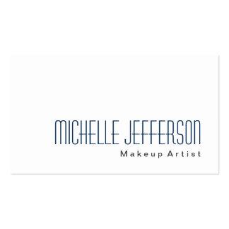 Blue Makeup Artist White Stylish Business Card