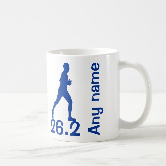 Blue Male Marathon Runner Mug 26.2 miles