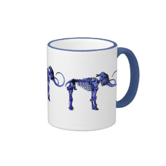 Blue Mammoth Skeleton Mug