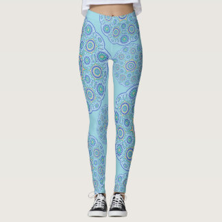 Blue Mandala Design Leggings