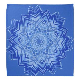 Blue Mandala Design on Bandana
