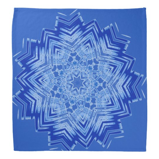 Blue Mandala Design on Bandanna