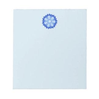 Blue Mandala Design on Notepad