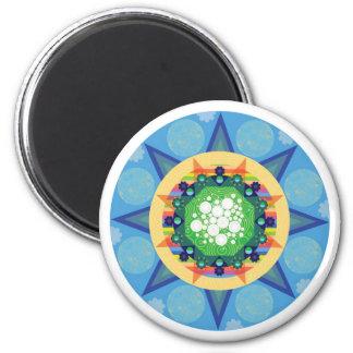 Blue mandala magnet