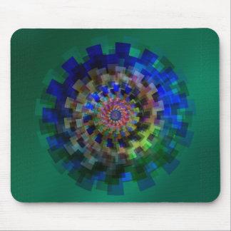 Blue mandala mouse mat