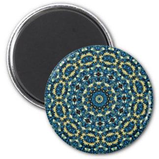 Blue Mandala Pattern 6 Cm Round Magnet
