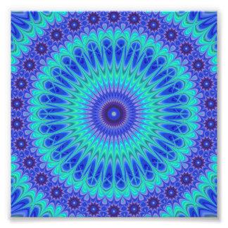 Blue mandala photograph