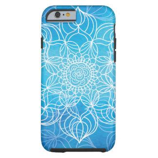 Blue Mandala Tough iPhone 6 Case