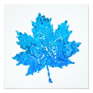 Blue Maple Leaf Card