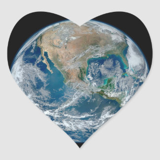 Blue Marble 2015 - Earth, Space, Planets Heart Sticker
