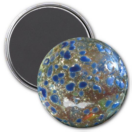 Blue Marble 7.5 Cm Round Magnet