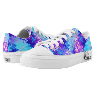 Blue Marble Abstract Shoes