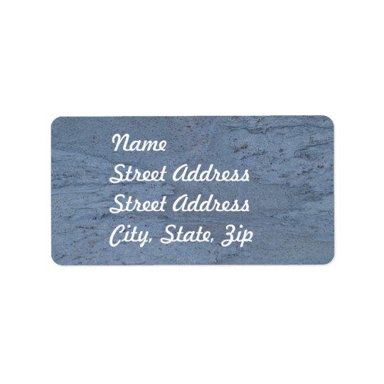 Blue Marble Address Sticker Address Label