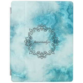blue marble beautiful texture pattern personalize iPad cover