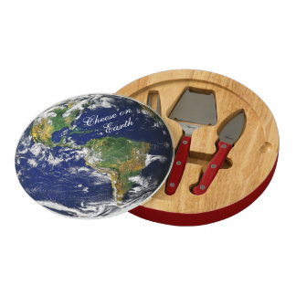 Blue Marble_Cheese on Earth Round Cheeseboard