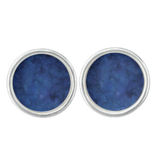 Blue Marble Cuff Links
