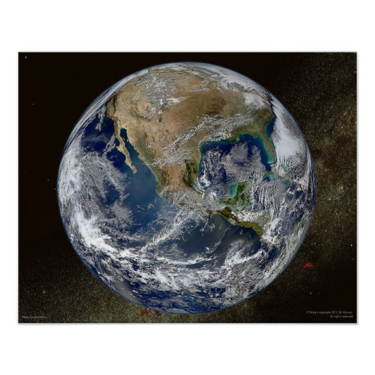 Blue Marble Earth 2012 Wall Art Poster