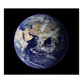 Blue Marble East View of Earth Poster