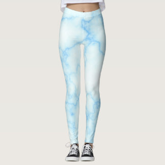 Blue marble leggins leggings