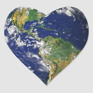 Blue Marble_Love at first sight_heart-shaped Stickers