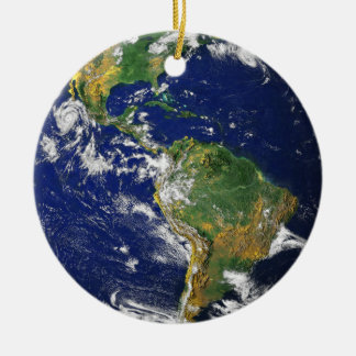 Blue Marble medallion necklace keepsake Christmas Ornament