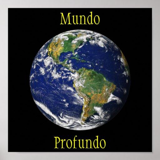 Blue Marble_Mundo Profundo Poster