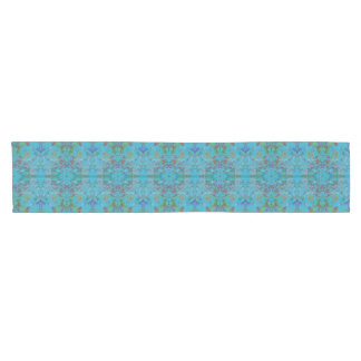 Blue Marble Painting Pattern Table Runner