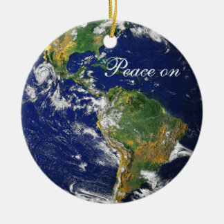 Blue Marble_Peace on Earth_Goodwill to all Christmas Ornament
