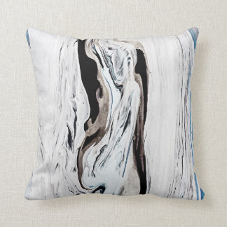 Blue marble pillow