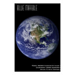 Blue Marble Print