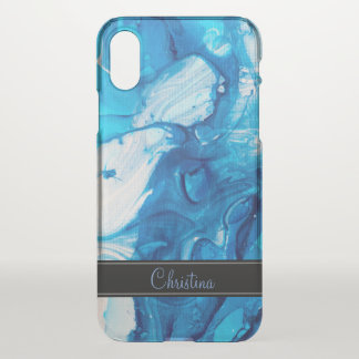 Blue Marble Texture iPhone X Case