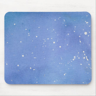 Blue Marble Watercolour Splat Mouse Mat