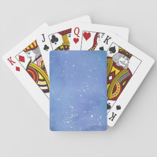 Blue Marble Watercolour Splat Playing Cards