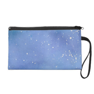 Blue Marble Watercolour Splat Wristlet