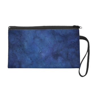 Blue Marble Wedding Wristlet