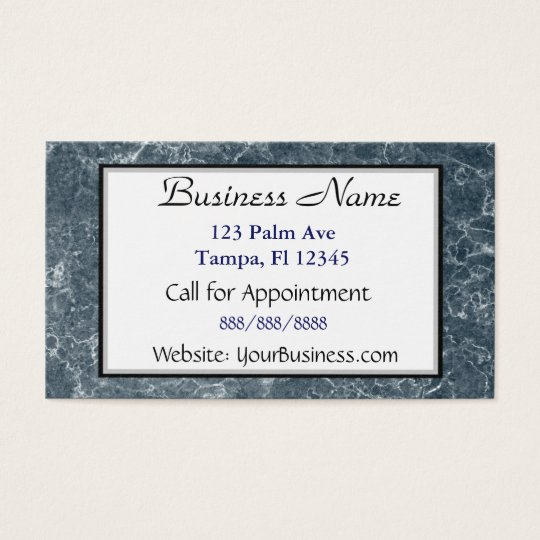 Blue Marbled Business Card