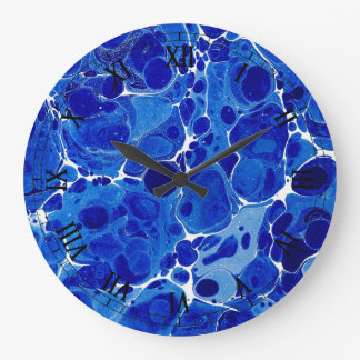 Blue Marbled Clock