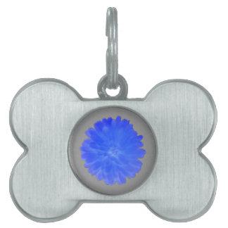 Blue Marigold Pet Tag