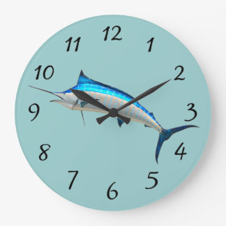 Blue Marlin Wall Clock