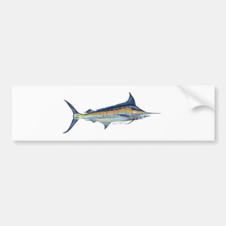 blue marlin fish painting bumper sticker