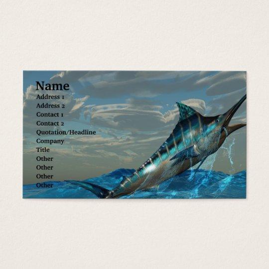 Blue Marlin Jump Business Card