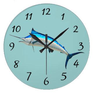 Blue Marlin Large Clock