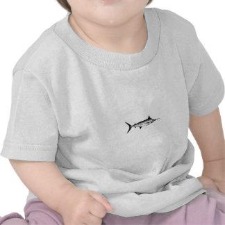 Blue Marlin Line Art Logo Tshirts