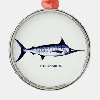 Blue Marlin Logo Christmas Ornament